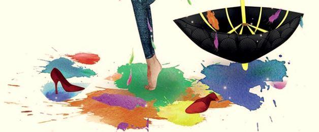 partie de la 1ère de couverture du livre de stephanie zeitoun moreceau de parapluie et jambes droite du personnage